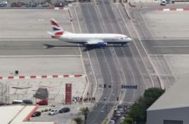 Gibraltar Airport- yes- this is too unbelievable.