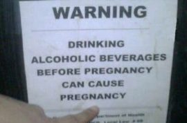 Drinking and pregnancy don't always go well together.