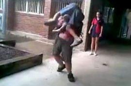 Casey Haynes bullied school kid body slams tormentor.