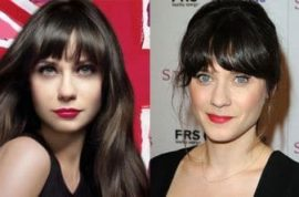Zooey Deschanel's face is stripped of lines and wrinkles in new Rimmel ad.