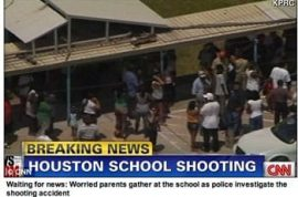 6 year old brings loaded gun to school and accidentally shoots himself and two of his classmates.