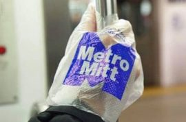 Are you up for wearing the disposable subway riding glove?