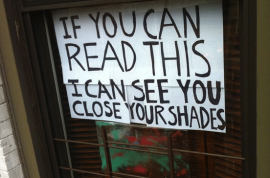 For the nude girl across the street…