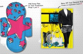 Patricia Field is now designing your new haute sanitary pad.
