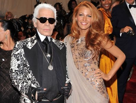 Karl Lagerfeld and Blake Lively @ 2011 Metropolitan Museum Costume Gala