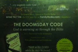 Robert Fitzpatrick's 'Doomsday Code' is now shackled on the side of a bus shelter.
