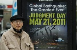 Man spends entire retirement savings on May 21 end of world doomsday coming.