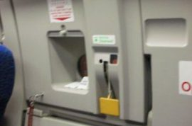 Unruly passenger tries to open emergency door on Delta flight 1102.