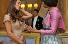 Kate Middleton skinnier than ever and her dress at the Obama meeting leads to web servers crashing.