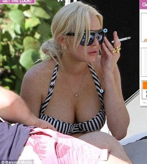 Lindsay Lohan pot belly