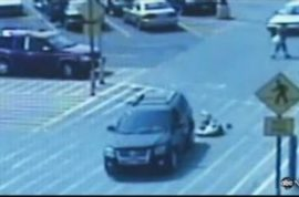 Shocking video of mother purposefully running over her teenage daughter.