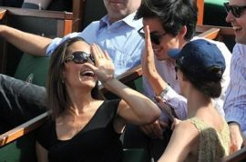 Who is the dashing French admirer accompanying Pippa Middleton at the French Open?