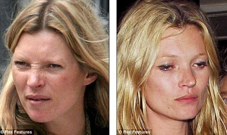 physical disintegration Kate Moss