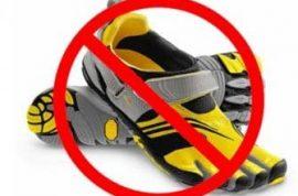 US Army bans toe shoes as fashion faux pas.