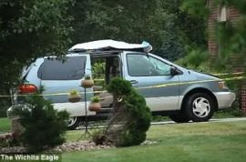 Driver strikes and kills man and drives for 3 miles with his body on the roof.