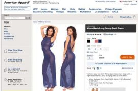 American Apparel: not even pretending to make actual clothes since 1998.