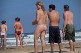 Today I saw a mullet on the beach. Don't believe me? Have a closer look….