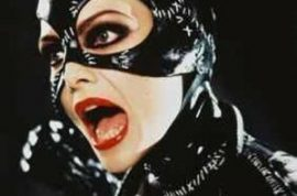 French Politician's wife attempts to assassinate him disguised as Catwoman.