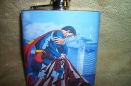 Are you saving up to buy your 9/11 superman crying steel flask memo in front of the world trade center?