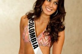 Miss Colombia reprimanded for appearing without her panties.