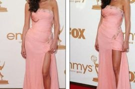 Paz de la Huerta came disguised as a sober drunk at last night's Emmys.