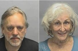 71 year old woman nabbed for having sex with a younger man in the back of a car.