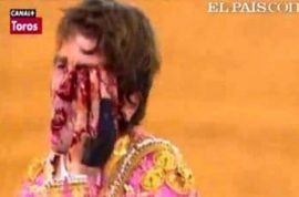 Horrifying video: Bull gores matador into his jaw and out his eye as spectators gasp in horror.