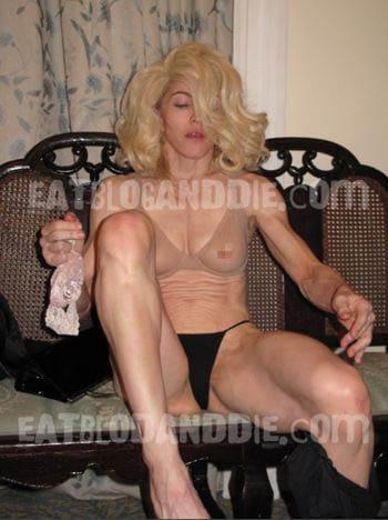 madonna naked in dressing room