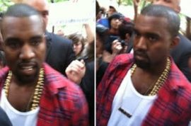Even Kanye West turned up at Occupy Wall st today.