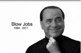 Could you imagine what the epitaph of Italy's prime minister, Silvio Berlusconi would look like were he to pass away in 2011?