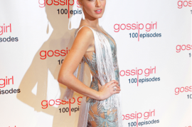 Fashionista Blake Lively turns up at Gossip Girl's 100th bash in a see through dress. Hot bitch status confirmed.