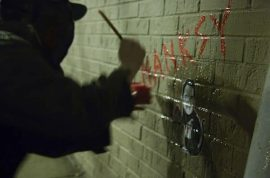 It's now time to meet Bansky's impersonator- Hanksy: 'Catch me if you can.'