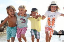 Oops, man's peen somehow turns up in children clothing line ad.