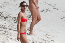 Olivia Palermo continues to be a hawt bixch, but now on a nudist beach at St Barts.