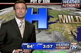 Four time Emmy award winning weatherman fired by FOX after Playboy interview portrays him as a lout after his being a victim of being drugged and extorted by 2 women.