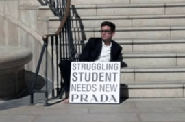 Struggling Student needs new Prada.