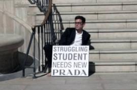 Struggling Student needs new Prada.