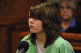 Teenage killer breaks down in court after being sentenced to life for the 'thrill' killing of her 9 year old next door neighbor.