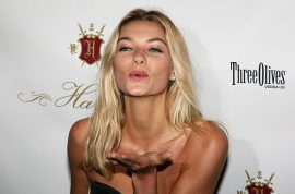 Supermodel Jessica Hart goes on twitter declaring Adam Hock is a freaky liar.