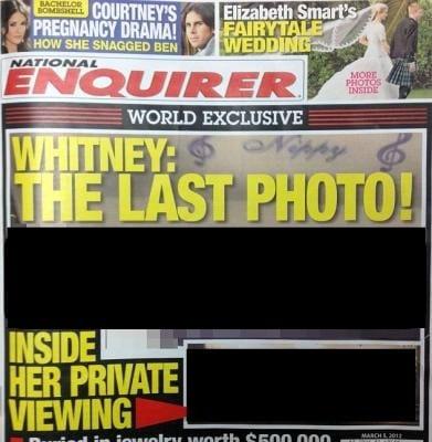 National Enquirer Whitney Houston's casket photo