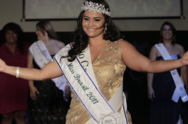 Barbara Monteiro at 175 pounds would like to tell you this morning she is the new Miss Brazil Plus.