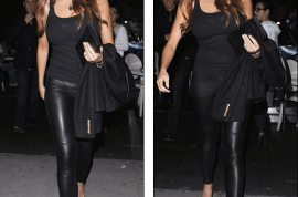 And this is why I woke up this morning. Sofia Vergara wows in leather tights and bright red wedges.