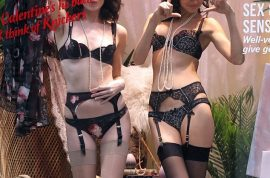 Agent Provocateur hires scantily clad models to model from their store front window.