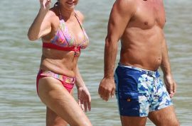 Ivana Trump shows off in stunning bikini with mystery beau.