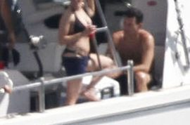 Scarlett Johansson wants to assure you she and Nathan are doing just fine on their yacht.