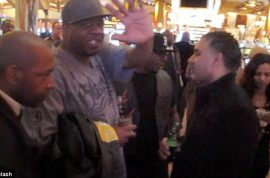 Bobby Brown rushes to a casino after Whitney's funeral.