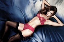 At 42 Helena Christensen wows as she models her own new lingerie line.