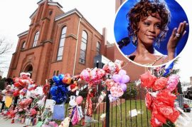 Whitney Houston's funeral draws Hollywood's biggest names.