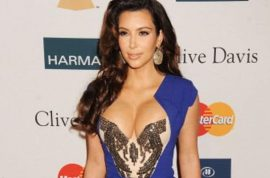 Kim Kardashian attends pre-Grammy party, disrespects Whitney