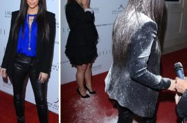 Kim Kardashian announces she will definitely press charges against flour bomber.